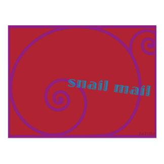 Snail mail de la fresa postal