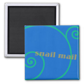 Snail mail del arándano imanes