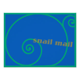Snail mail del arándano impresiones