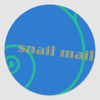 Snail mail del arándano pegatina redonda
