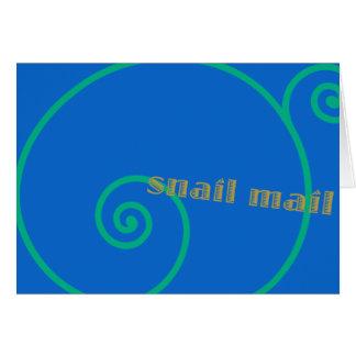 Snail mail del arándano tarjetas