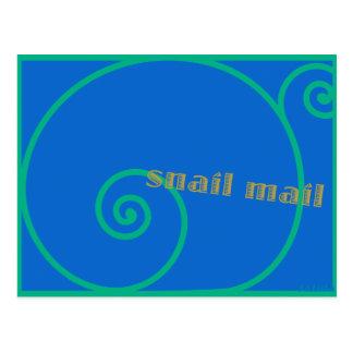 Snail mail del arándano postales