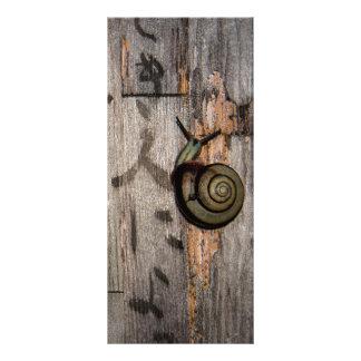 Snail mail Escargot en caligrafía asiática Lona Publicitaria