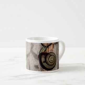 Snail mail Escargot en caligrafía asiática Taza Espresso