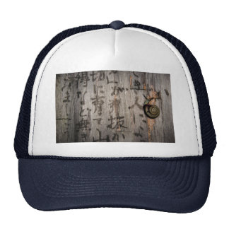 Snail Mail Escargot on Asian Calligraphy Trucker Hat