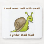 Snail mail Mousepad Tapetes De Raton
