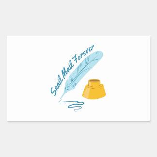 Snail mail pegatina rectangular