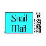 Snail Mail Postage Stamp