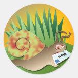 Snail Mail Round Stickers
