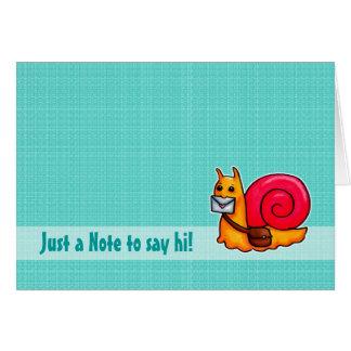 Snail mail say hi card customisable
