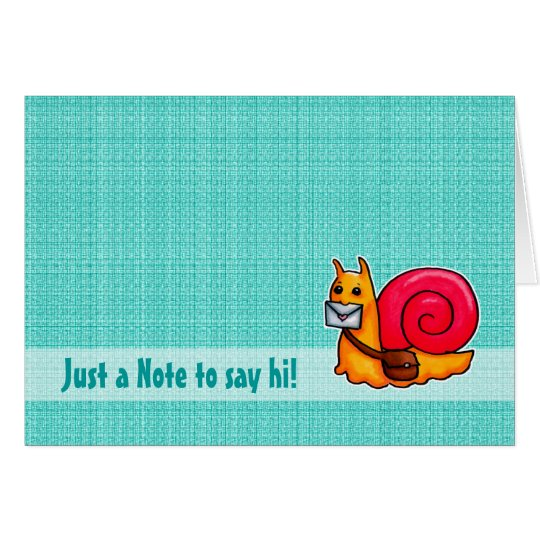 Snail mail say hi card customisable