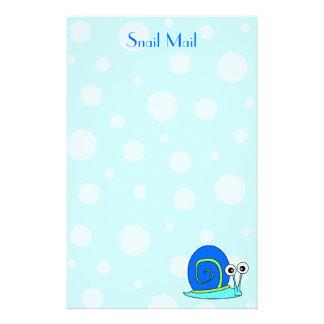 Snail Mail Stationery - Blue