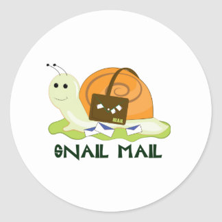 Snail Mail Round Stickers