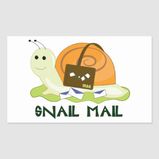 Snail Mail Rectangle Stickers