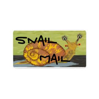 Snail Mail stickers Address Label