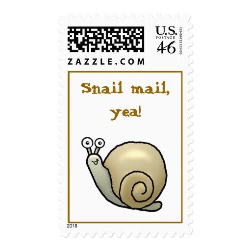Snail mail, yea! Stamp.