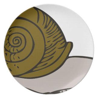 Snail Melamine Plate