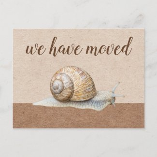 Snail New Home Moving New Address Postcard