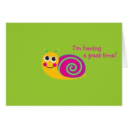 Snail Notecard Stationery Note Card