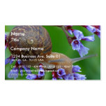 Snail On Flowers Double-Sided Standard Business Cards (Pack Of 100)
