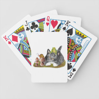 Snail on Toadstool with Frog on Kitten Bicycle Playing Cards