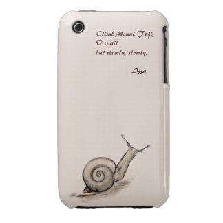 Snail original pastel zen drawing iPhone 3 cover