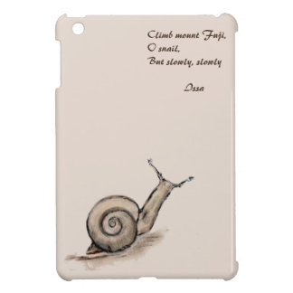 Snail original pastel zen drawing iPad mini cases