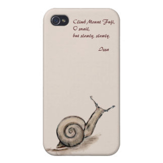 Snail original pastel zen drawing iPhone 4 case
