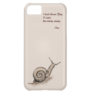 Snail original pastel zen drawing iPhone 5C case
