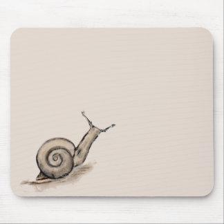 Snail original pastel zen drawing mouse pads