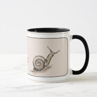 Snail original pastel zen drawing mug