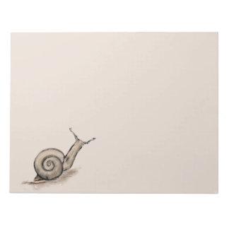 Snail original pastel zen drawing notepad
