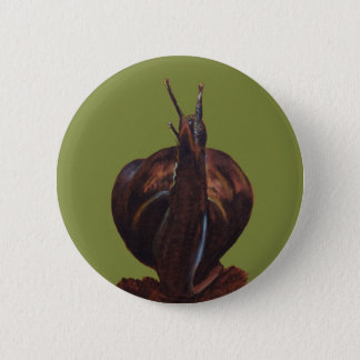 Snail Pastels Drawing  Round Badge Button
