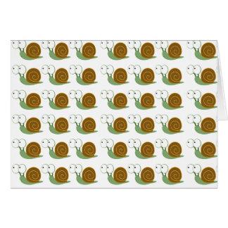 Snail pattern card