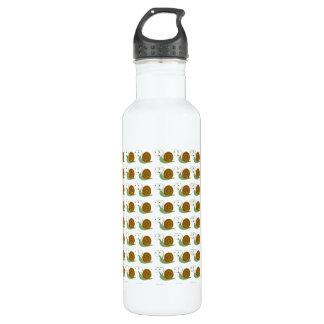 Snail pattern stainless steel water bottle
