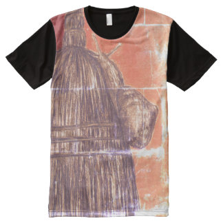 Snail Philosophy  Men's American Apparel Pan All-Over-Print T-Shirt