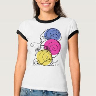 Snail Pile Women's Ringer T-Shirt