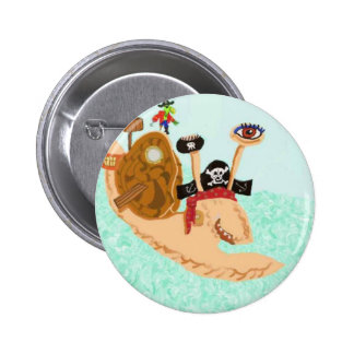 Snail Pirate Magrid And Silly Sally Parrot Buttons