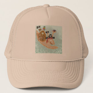 Snail Pirate Magrid And Silly Sally Parrot Trucker Hat