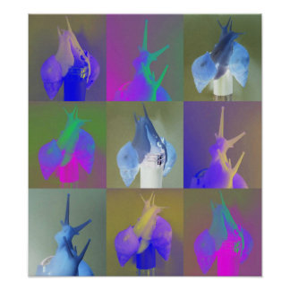 Snail Pop Art (Achatina fulica jadatzi) Poster