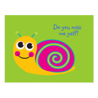 Snail Post Card