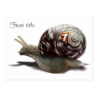 Snail Racer - Lucky #7 Business Card Templates
