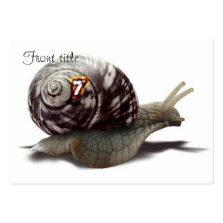Snail Racer - Lucky #7 Business Card Template