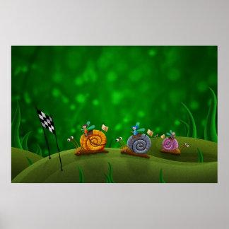 Snail Racing Poster