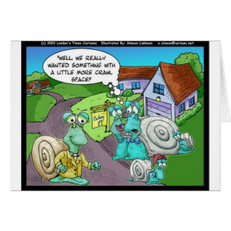 Snail Real Estate Sales Funny Gifts & Collectibles Card