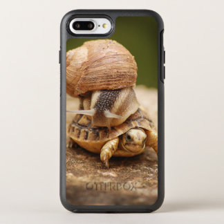 Snail Riding Baby Tortoise OtterBox Symmetry iPhone 7 Plus Case