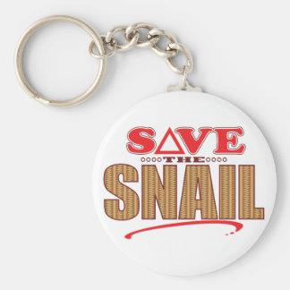 Snail Save Basic Round Button Keychain