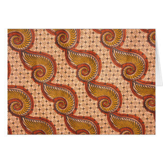 Snail Shell African Fabric Design Greeting Cards