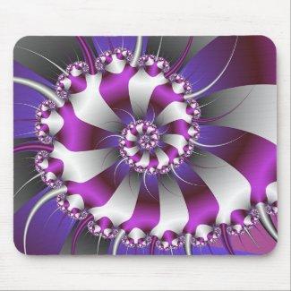 Snail Shell Fractal Mousepad mousepad