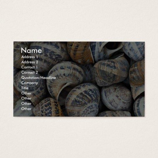 Snail shells business card